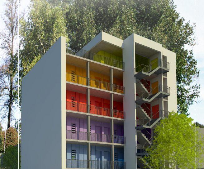Treppenhaus architektur aussen  Außen Archives - Hinz Architekten